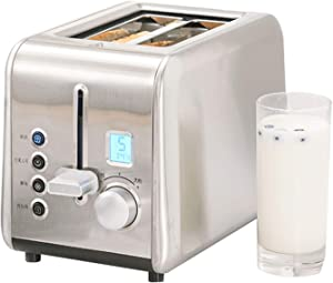 Toaster, Metal Body, 6-Speed LCD Timer Display, Double-Sided Baking, Defrost/Reheat Function, Widening The Grill,Removable Crumbs Tray