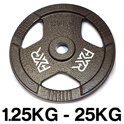 FXR Sports Tri Grip Cast Iron 1 Weight Plates