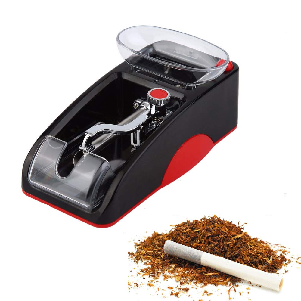 Pevor Electric Cigarette Injector Rolling Machine Tobacco Automatic Roller Maker, Red by Pevor