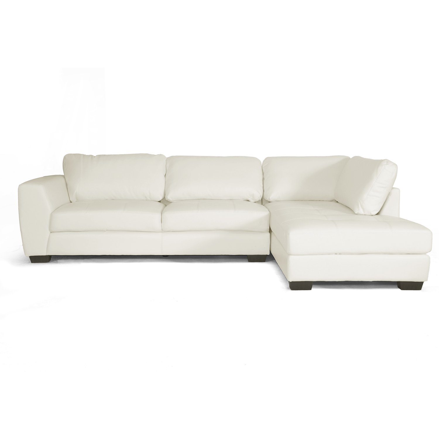 Amazon Baxton Studio Orland Leather Modern Sectional Sofa Set