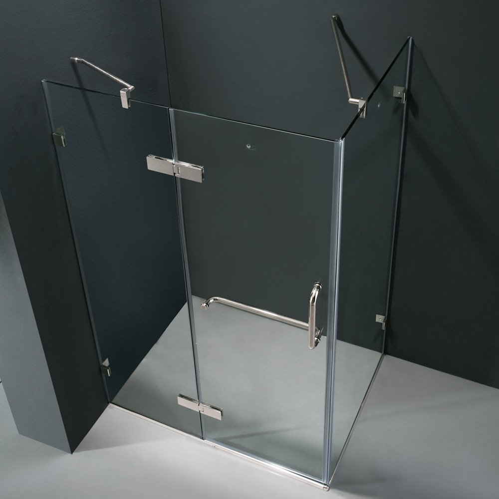 VIGO Monteray 32 X 48 In. Frameless Shower Enclosure With .375 In. Clear  Glass And Chrome Hardware   Shower Doors   Amazon.com