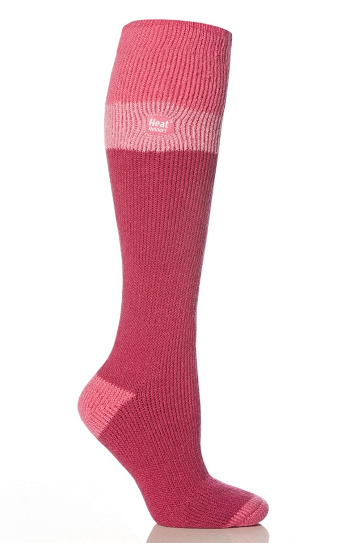1 Paar Damen Original thermisch Wärmehalter Ski Socken 4-8 uk, 37-42 EUR, 5-9 usa Rosa / Hellrosa / Himbeere