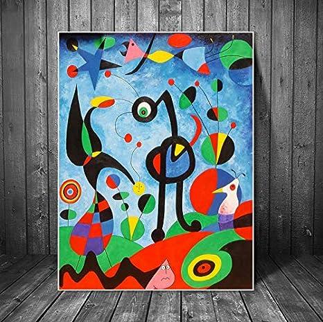 Meilishop The Garden 1925 Di Joan Miro Riproduzioni Su Tela Famose Quadri Astratti Dipinti Su Tela Di Joan Miro Quadri Murali Decorazioni Murali Domestiche A113 50x70cm Senza Cornice Amazon It Casa E Cucina