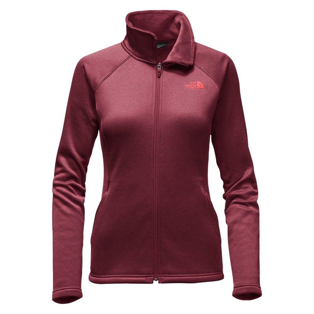 The North Face Women's Agave Full Zip Fleece Deep Garnet Red Heather (X-Small)