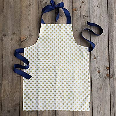 Metallic Gold Polka Dot Apron Handmade for Tween Girls by Sara Sews