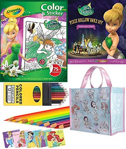 - All Your Base Animators' Collection Petite Disney Tote Bag & Colored Pencils / Pixie Hollow Book / Tinker bell Fairies set + Stickers Ariel, Belle, Snow White, Aurora Bundle