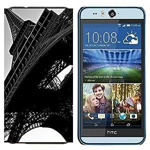 EJOOY---Cubierta de la caja de protección para la piel dura ** HTC Desire Eye M910x ** --Arquitectura Torre Eiffel Close Up