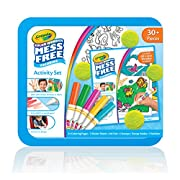 Crayola Color Wonder Mess Free Coloring Activity Set, Animals Arts & Crafts Gift for Kids & Toddlers 3 & Up, No Mess Markers, Stamps, Stickers & Coloring Pages, 30+ Pieces