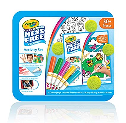 Crayola Color Wonder Mess Free Coloring Activity Set, Animals Arts & Crafts  Gift for Kids & Toddlers 3 & Up, No Mess Markers, Stamps, Stickers & ...