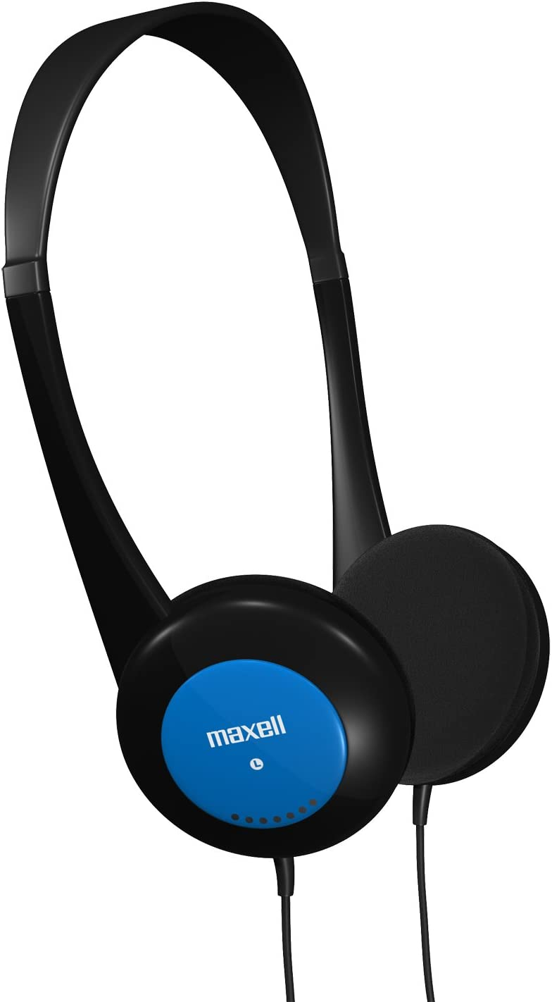 Maxell 190338 Lightweight & Small Volume Protection 30mm Driver Comfortable Kids Safe Children Headphones with Interchangeable Colors