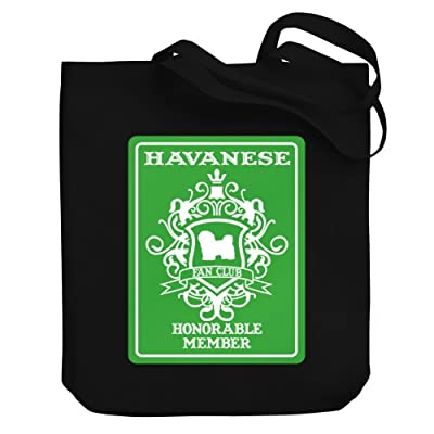 Teeburon Havanese Fan Club Honorable Member Canvas Tote Bag