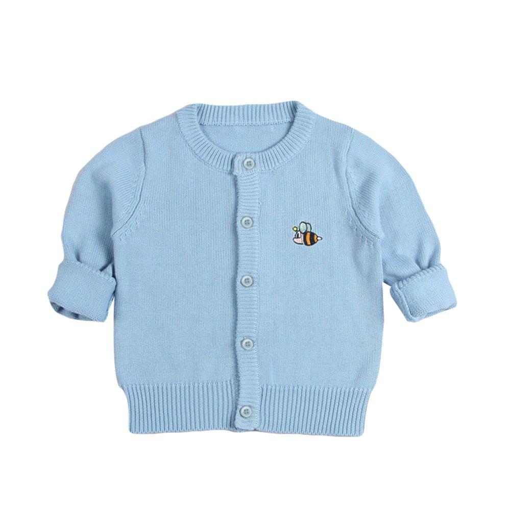 Jojobaby Baby Girls Cute Crew Neck Button-Down Knit Cardigan Sweaters
