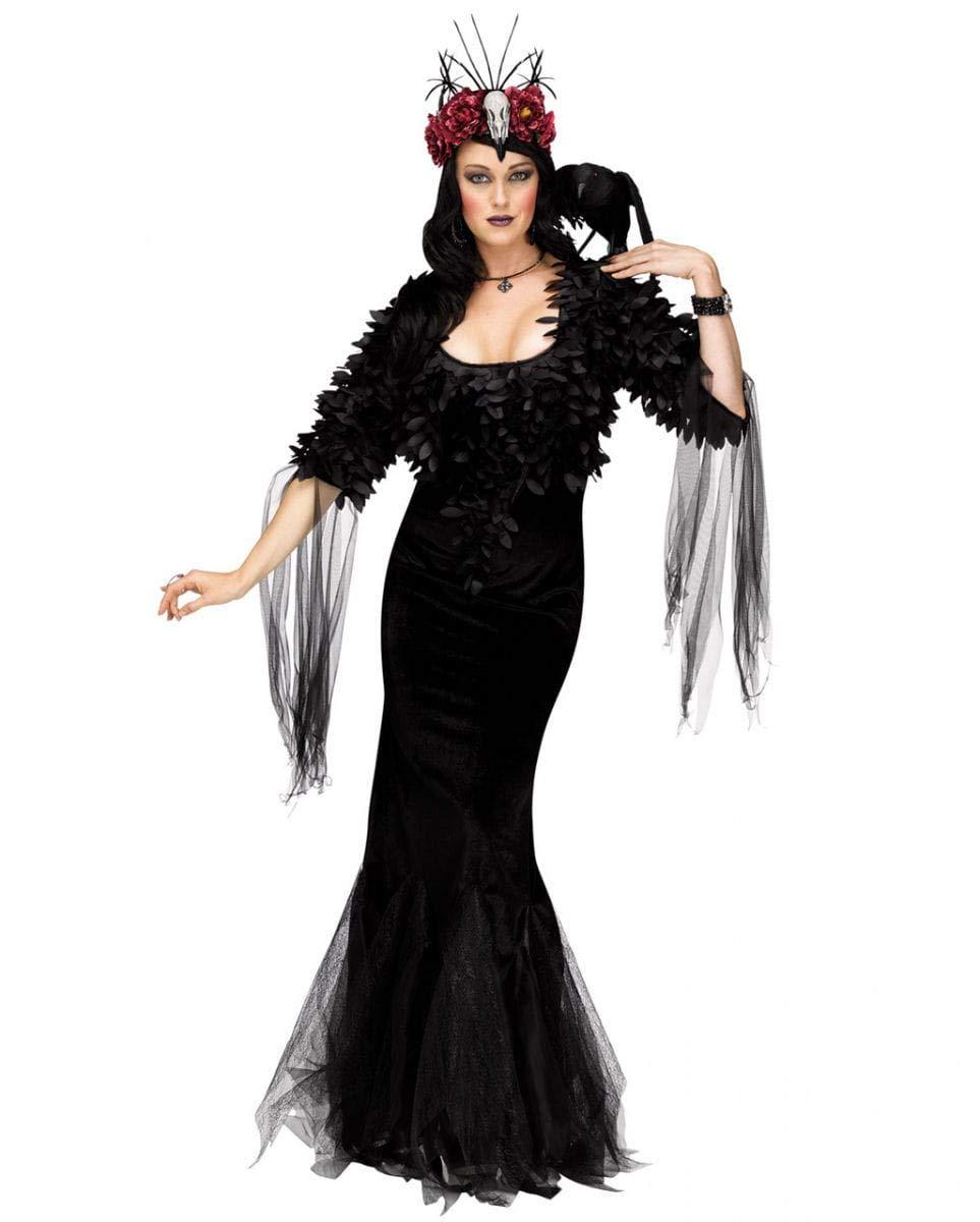 Horror-Shop Traje de Lujo Reina Cuervo M