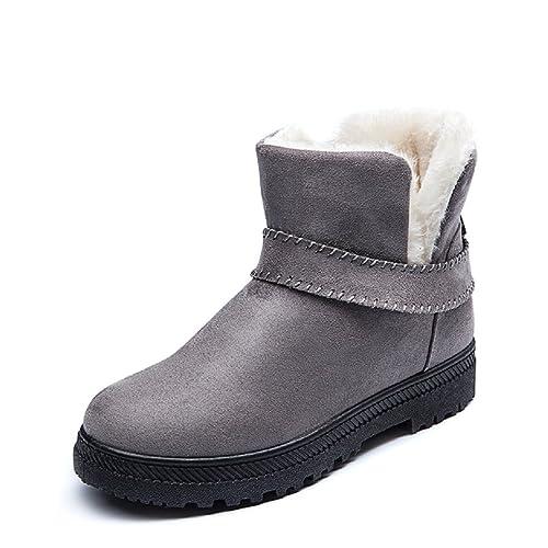 Zapatos grises de invierno para mujer qJm9fqmO