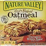 Nature Valley, Soft Baked Oatmeal Squares, Cinnamon Brown Sugar, 7.44oz Box (...