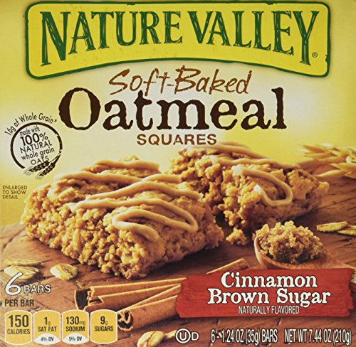 - Nature Valley, Soft Baked Oatmeal Squares, Cinnamon Brown Sugar, 7.44oz Box (...