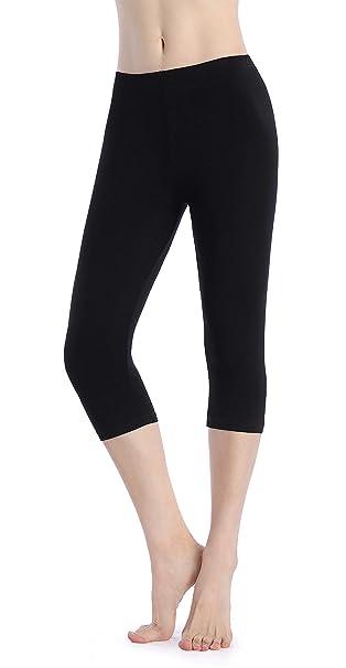 b973d2ba21348d Ferrieswheel Story Women Stretch Yoga Shorts Under Skirt Cropped Leggings  Thin Capri Pants Fitness Black