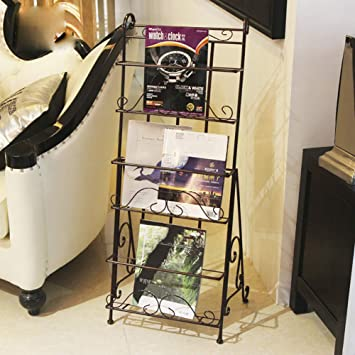 Wayerty Eisen Zeitschriften Aufbewahrung Metall Zeitungsstander