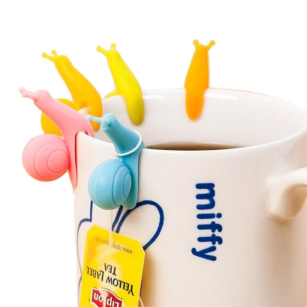 Supporti per Tisane Bustina Tea Infusore Holder Tea Caff/è Tazza Design Inteligente 6 Pezzi Ottimo come Regalo Simpatico LATH.PIN