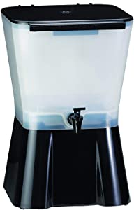 Tablecraft 2 X H953 3-Gallon Beverage Dispenser Black and Clear