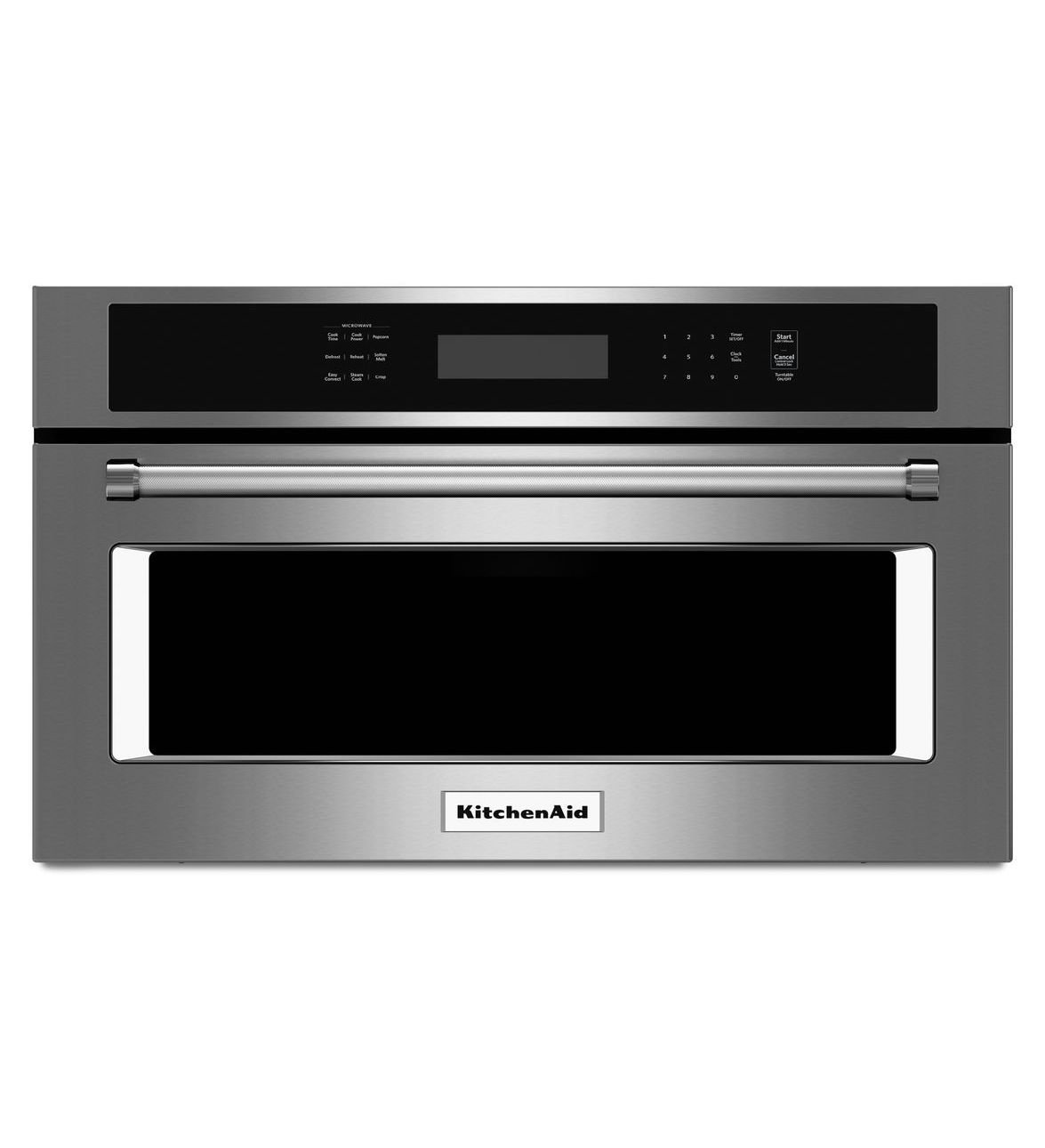 """KITCHENAID KMBP100ESS 30"""" Built-in Microwave Oven with 900 Watts, 1.4 cu. ft. Capacity, Convection Cooking, Crispwave Technology and Sensor Steam Cycle"""
