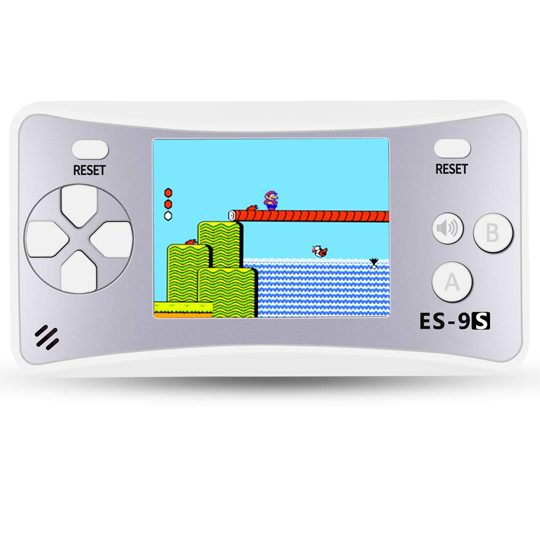 ZHISHAN Handheld Game Console for Children Built in 168 Classic Old Games Retro Arcade Gaming Player Portable Playstation Boy Birthday or Xmas Gift (Silver)
