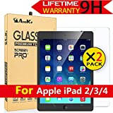 iPad 2 / iPad 3 / iPad 4 Glass Screen Protector,[2 Pack] AnoKe[Case Friendly](0.3mm 9H) Anti-Scratch, Clear Tempered Protector Film Shield Guard for Apple iPad 2/3/4-2 Pack