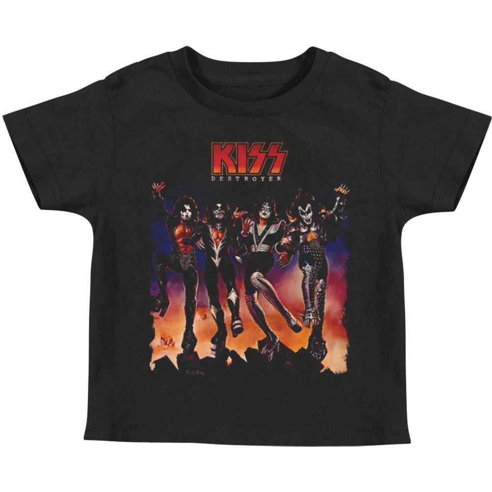KISS Hard Rock Metal Band Rock N' Roll Music Destroyer Album Art Little Boys Tee Trevco