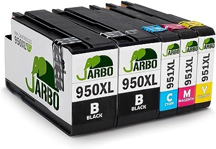 JARBO Compatible HP 950 XL 951 XL Cartuchos de tinta (2 Negro, 1 Cian, 1 Magenta, 1 Amarillo) gran capacidad para HP Officejet Pro 8600 8610 8620 8630 8640 8660 8615 8625 8100 251dw 271dw Impresora: Amazon.es: Oficina y papelería