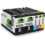 JARBO Compatible HP 950 XL 951 XL Cartuchos de tinta (2 Negro, 1 Cian, 1 Magenta, 1 Amarillo) gran capacidad para HP Officejet Pro 8600 8610 8620 8630 8640 8660 8615 8625 8100 251dw 271dw Impresora