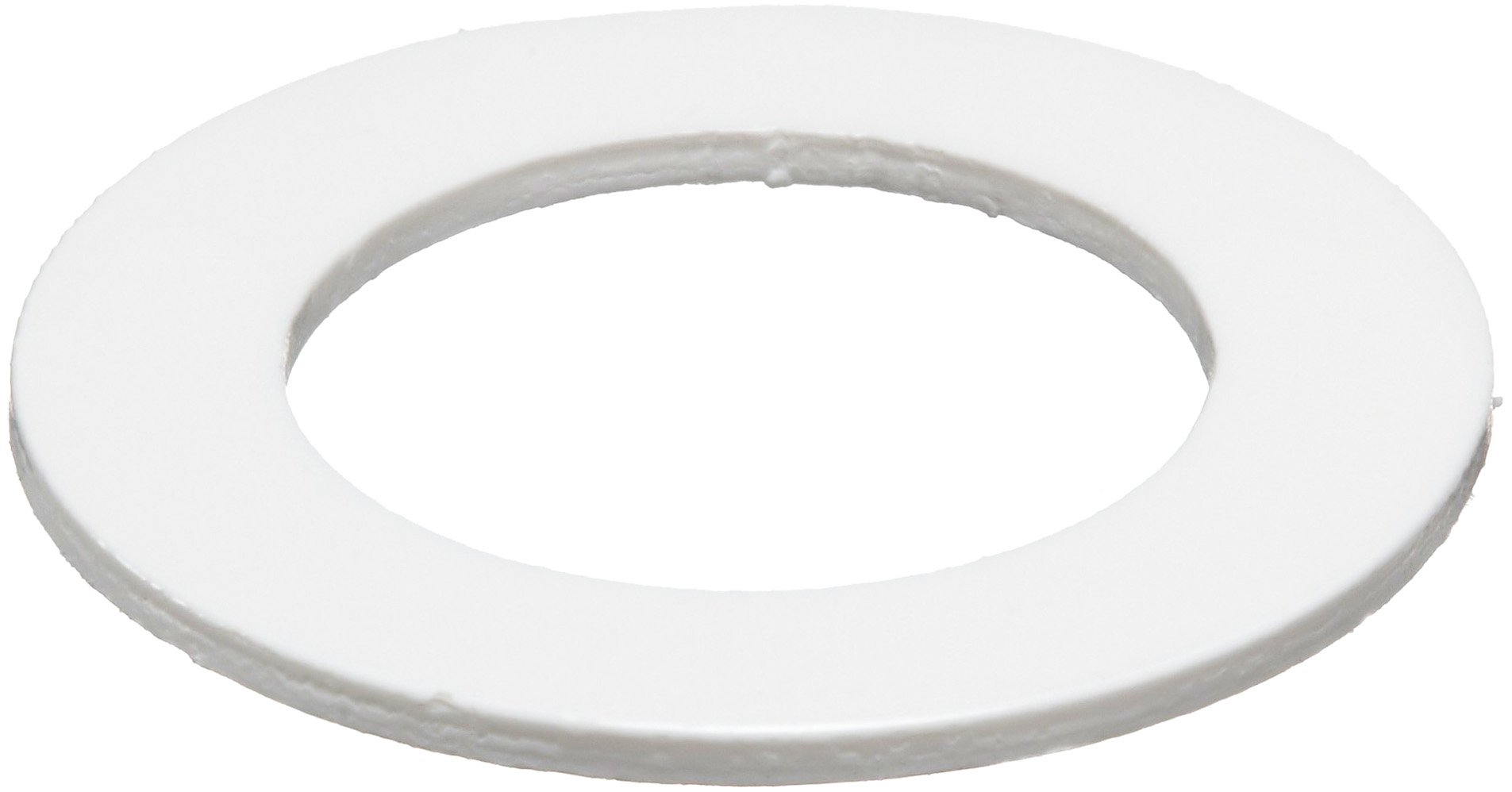 PVC (Polyvinyl Chloride) Round Shim, White, 0.025'' Thickness, 1'' ID, 1-1/2'' OD (Pack of 10) by Small Parts
