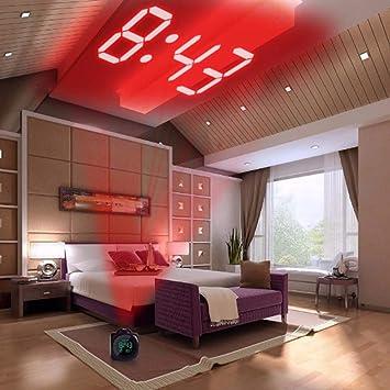 4 Paquete, Proyección LCD Tiempo de visualización del LED Reloj Despertador Digital Indicador de Voz Que Habla Termómetro Función de repetición Escritorio,, ...
