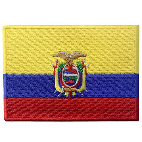 Ecuador Flag Embroidered Emblem Ecuadorian Iron On Sew On National Patch