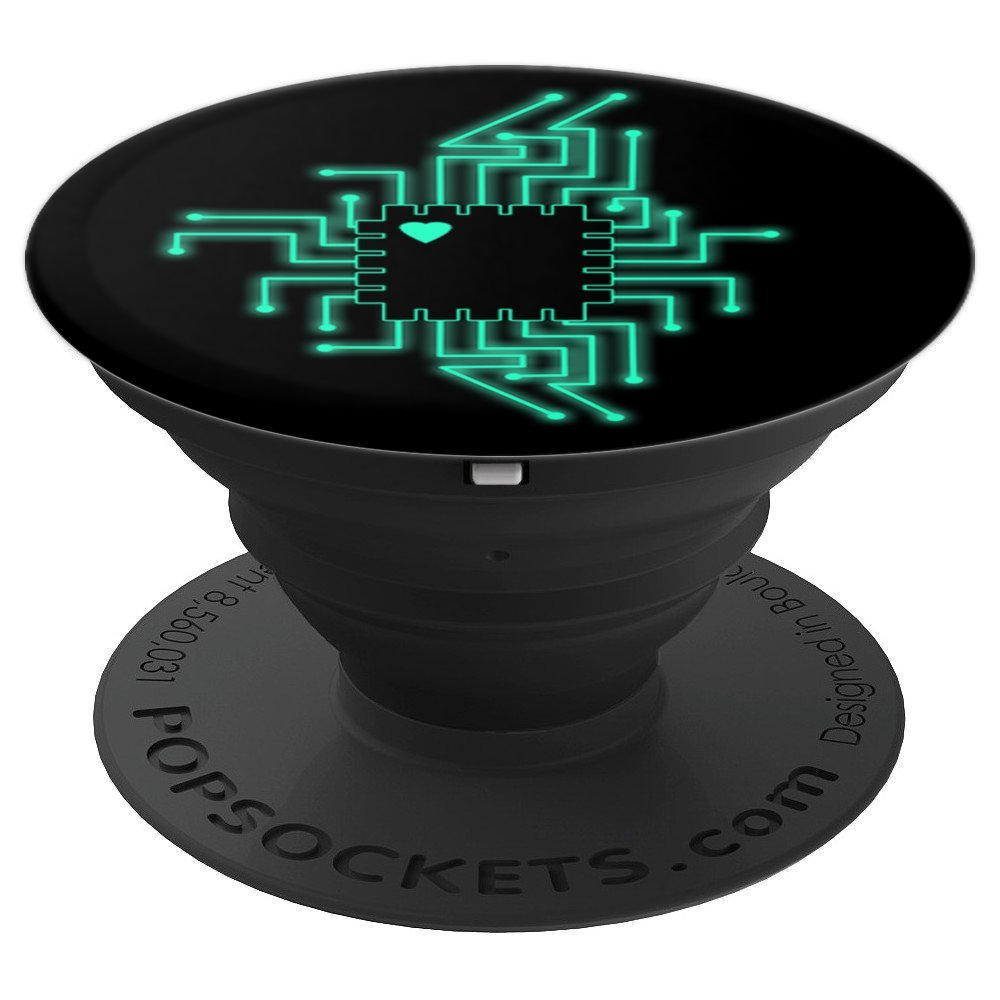 Computer CPU Circuit Board - Electronics Nerds - PopSockets Grip and Stand for Phones and Tablets