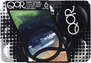 QoR Watercolor, Made by Golden Artist Paints, Intro Earth Colors Set of 6