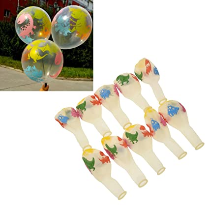 Amazon Com Betterus 10pcs Dinosaur Print Latex Balloons Birthday