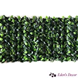 Eden's Decor 120'X40' Faux Ivy Leaf Privacy Trellis Fence Screen, Natural Looking Artificial Hedge for Indoor/Outdoor Decoration Forest-Color/Mint Green Leaves