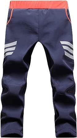 CAMLAKEE Pantalones Montaña Invierno Niño Niña, Pantalón Senderismo Impermeable, Pantalones de Trekking con Forro Polar