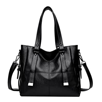 b3cc54cdc7af6 Dexinx Damen Charmant Elegant Leder Handtasche Beliebt Attraktiv  Umhängetasche für Frau Schwarz