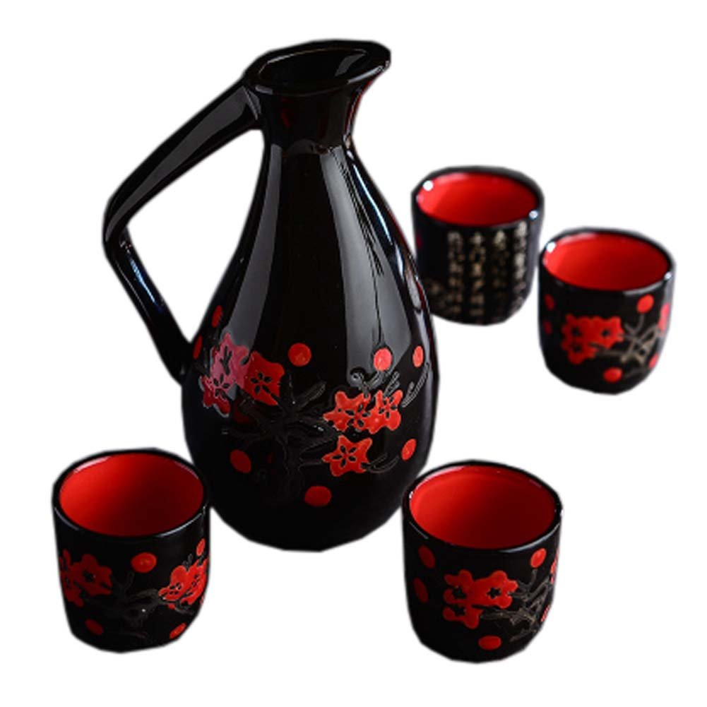 FANCY PUMPKIN Japanese Style Ceramic Sake Sets Wine Cups Crafts for Japanese Cuisine, C