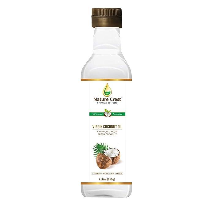 Nature Crest 100% Cold Pressed Virgin Coconut Oil - 1L