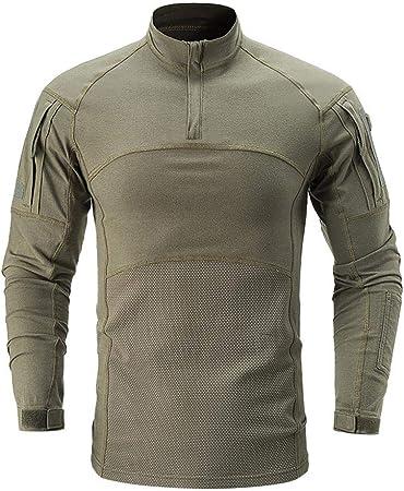 QAZW Ropa táctica Táctico Camisa Ejército Hombres Militar Camisa Táctico Traje de Ropa de Rana de Camuflaje Fuerzas Especiales de los Hombres Fanático del Desierto B-S: Amazon.es: Hogar