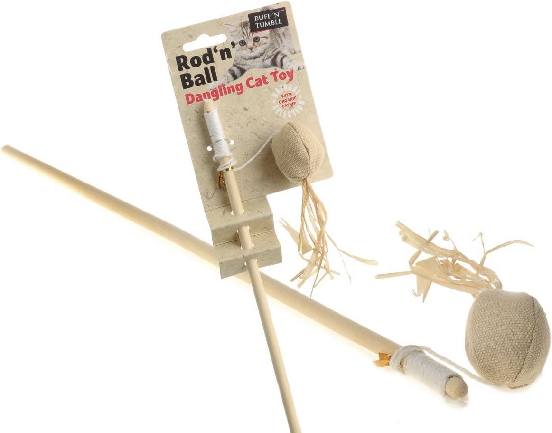 Sharples /& Grant Ruff N Tumble Rod N Ball Cat Toy