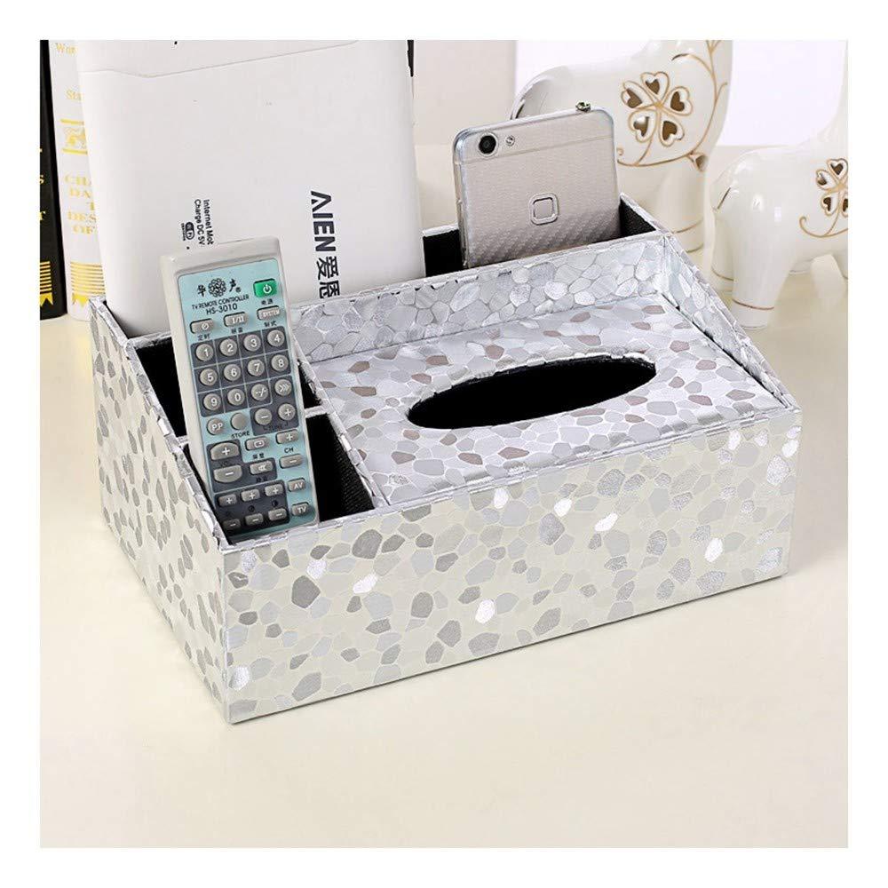SHUCHANGLE SHUCHANGLE SHUCHANGLE Tissue Box Halter Kosmetiktücher-Box Multifunktionsspeicher Pu-Leder Einfaches Steinmuster Fernbedienung Aufbewahrungsbox Für Wohn-Wohnzimmertisch B07NSS2W29 Toilettenpapieraufbewahrung df25fb