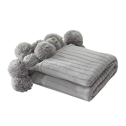 Amazon.com: HIGOGOGO 100% Cotton Throw Blanket, Striped ...