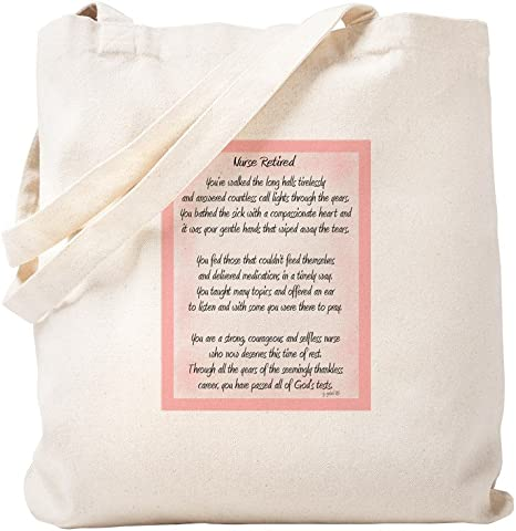 Personalised Beige Natural Tote Bag Nurse Gift Thank you Retirement New Job