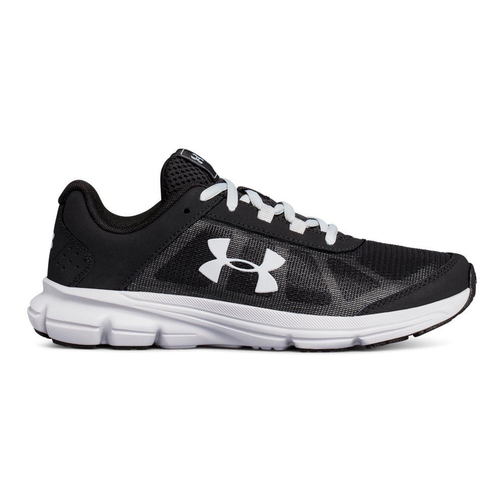 Under Armour Kids' Grade School Rave 2 Sneaker,Black (001)/Overcast Gray,3.5 M US by Under Armour (Image #1)