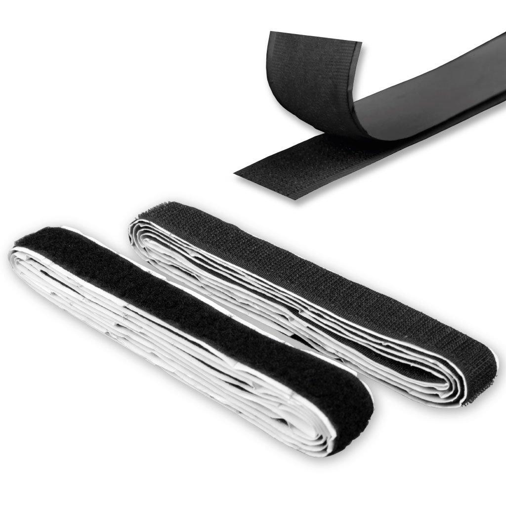 Resistente e Flessibile 1,5 m x 2 cm Bestlivings Forte aderenza Disponibile in Diversi Colori Nastro Adesivo Universale in Velcro