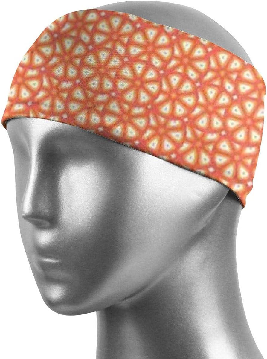 Sports Headbands,Overlapping Citrus Grape Lemon Fruit Slices Vitamin Organic Food,Sweat Wicking Hair Bands for Workout Fitness Yoga Running Elastic Non Slip