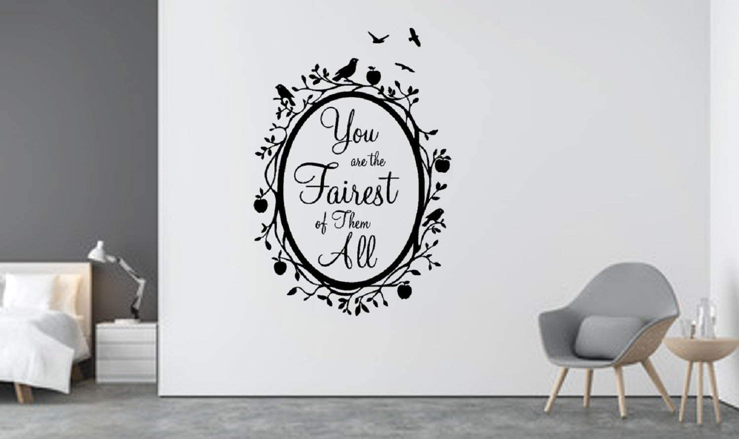 Artstickerscool Disney Wall Decal - Disney Villain Decal - Evil Queen Wall Decal - Disney Decor - Disney Villain - You are The Fairest of Them All Mirror